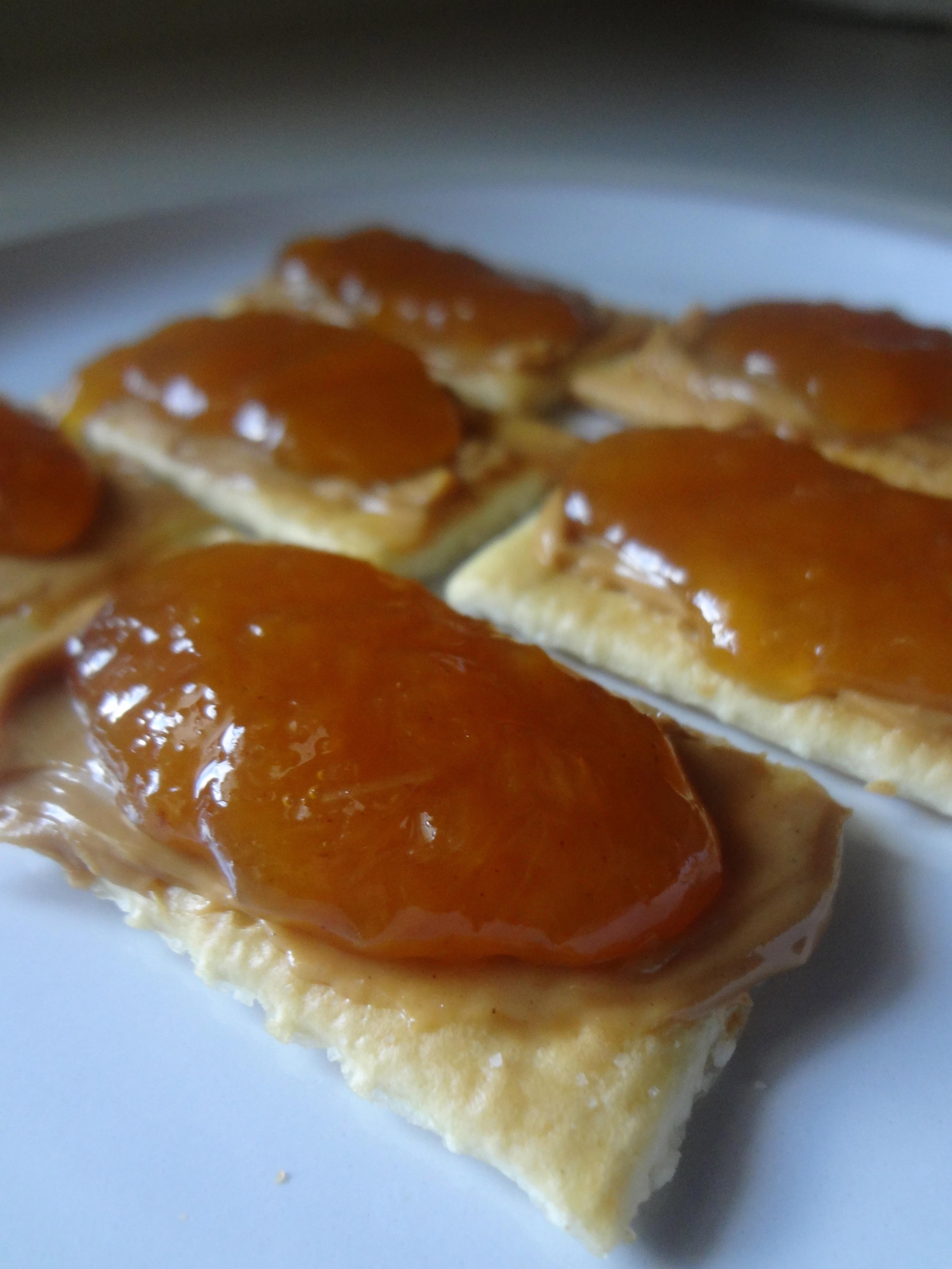Apple Barn Peach Butter on crackers