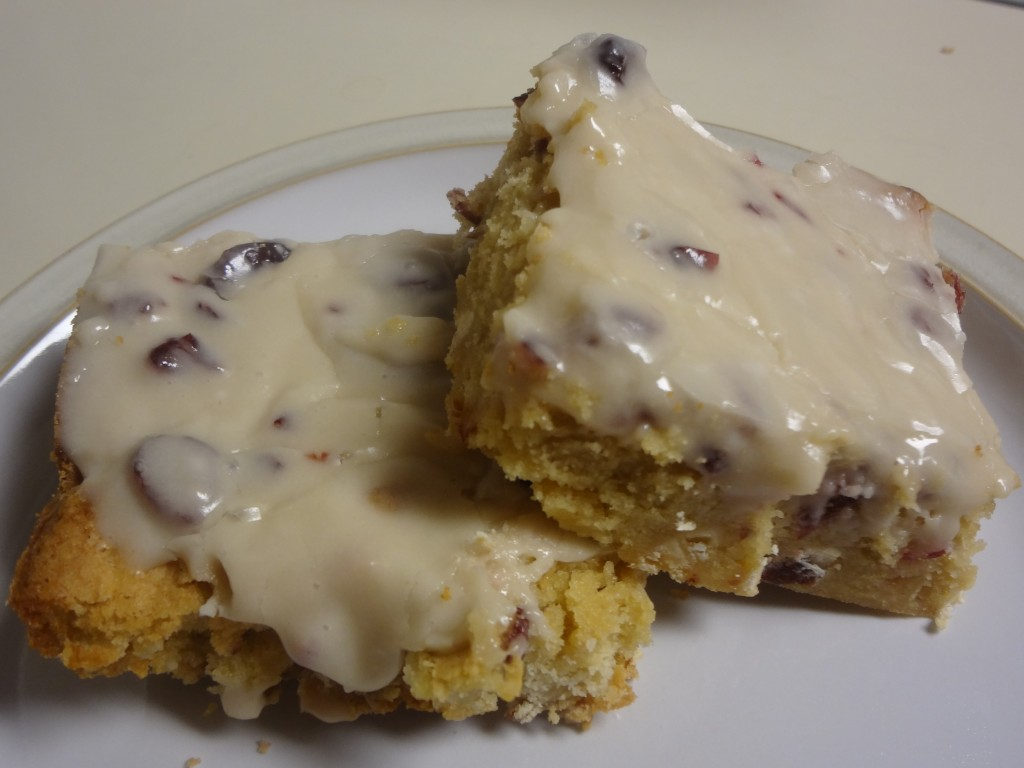 White Chocolate Cranberry Bliss Bars - The white chocolate sets off the cranberries and they pair great together!