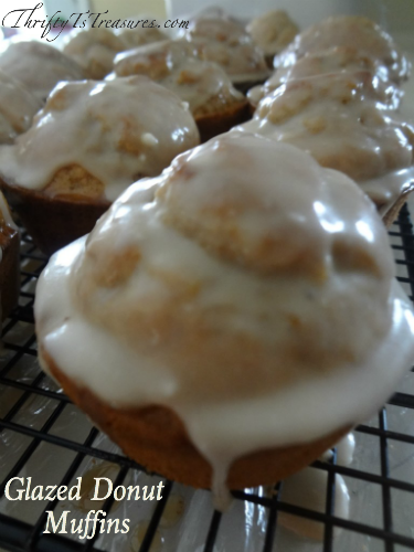 These Glazed Donut Muffins are a great variation from your normal blueberry and poppyseed muffins.