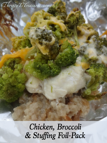 chicken broccoli stuffing foil pack