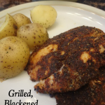 Grilled, Blackened Tilapia