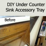 DIY Under Counter Sink Accessory Tray