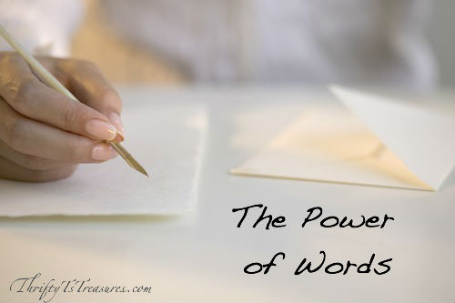 Oh the power of words - they can tear someone down or lift them up. See how the power of words impacted four situations.