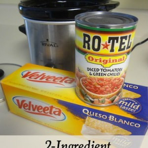 2-ingredient slow cooker queso