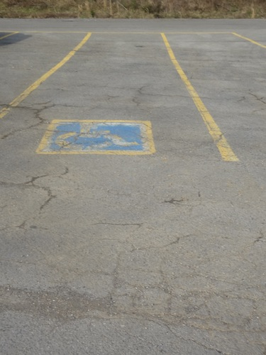 handicap spot at boat dock