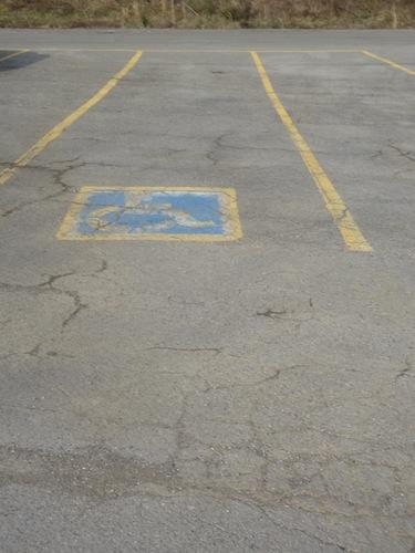 handicap spot at boat dock