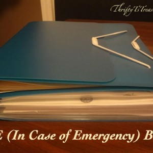 ICE (In Case of Emergency) Book - Plan ahead for your family and prepare the information they'd need in case something happened to you or your spouse!