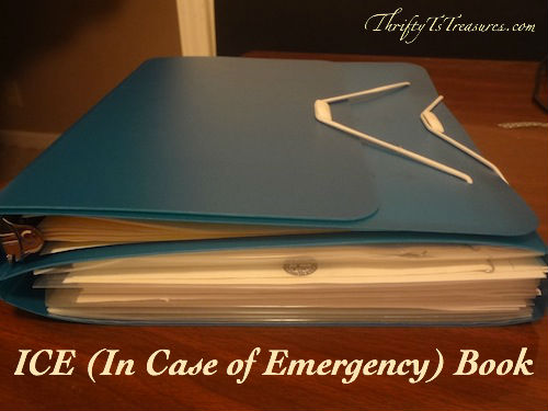 teal duo binder filled with paperwork