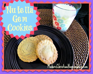 Nutella-Gem-Cookies
