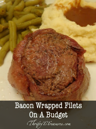 Meat prices at the grocery store are outrageous. Learn how to have a bacon wrapped filets on a budget!