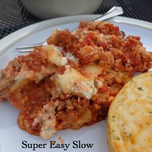 super easy slow cooker lasagna