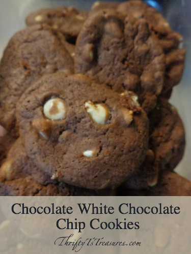 chocolate white chocolate chip cookies