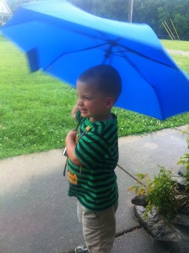 cole and umbrella