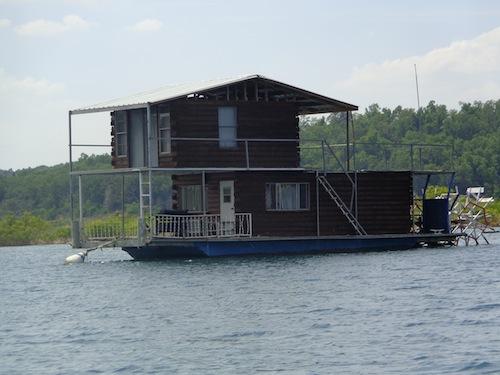 log cabin boat