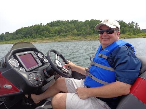 trent driving boat
