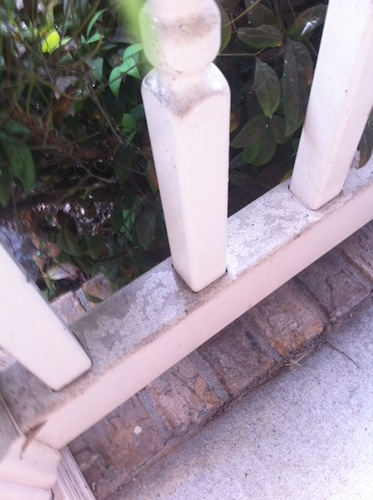 dirty railing