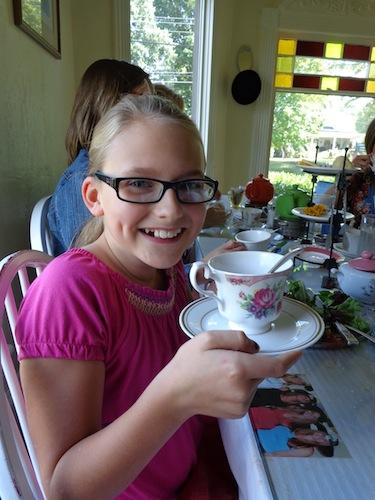 elizabeth at tea