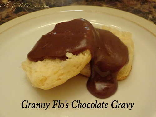 Granny Flo's Chocolate Gravy is best described as breakfast and dessert all in one! This smooth and creamy gravy has just the right amount of chocolate!
