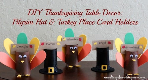 DIY Thanksgiving Pilgrim Hat and Turkey-Place-Card-Holders