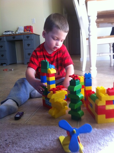 cole with blocks