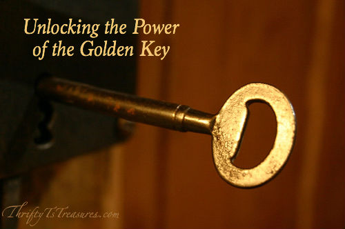 The golden key is a symbol of your ability to unlock any door on your path to happiness. Will you choose misery or joy?