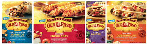 Old El Paso Frozen Entrees for Two come in eight different flavors, and you'll likely have a hard time deciding which flavor to take home with you!