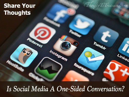 social media one sided conversation