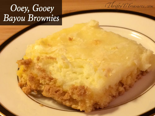 These Ooey, Gooey Bayou Brownies are super simple to make, and only have 5 ingredients. You need to add this to your favorite easy desserts recipes!