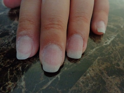 buffed finger nails