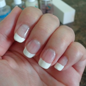 nails with a French manicure