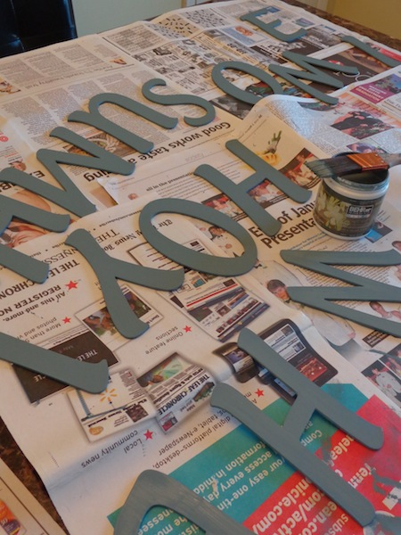 DIY Wall Art with Wooden Letters