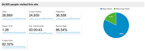 Google Analytics January Traffic Overview