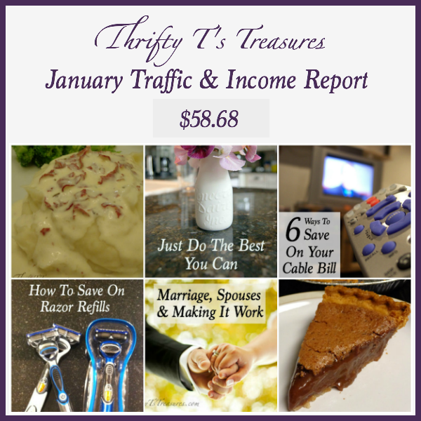 January Traffic and Income Report