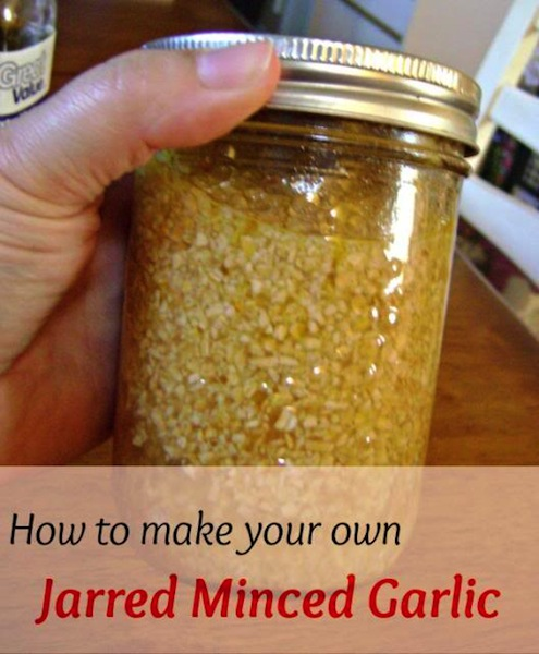 how to make your own jarred minced garlic
