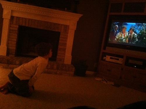 jayden watching movie