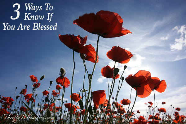 Today I'm sharing 3 Ways To Know If You Are Blessed