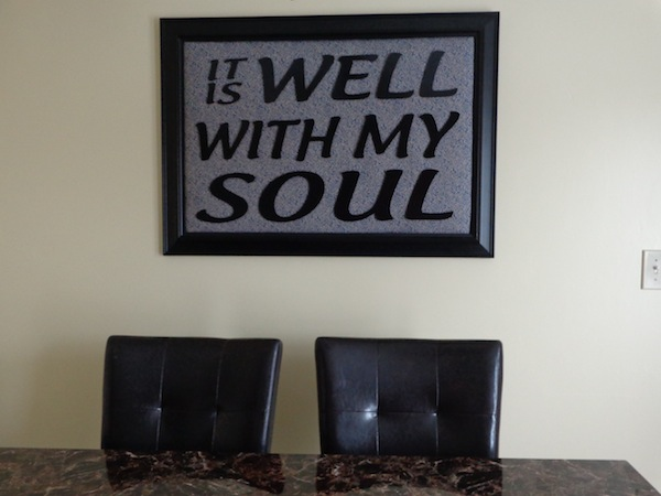 It Is Well With My Soul Wall Art - Not only is this phrase a beautiful hymn, but I chose this phrase because it has significant meaning to me!