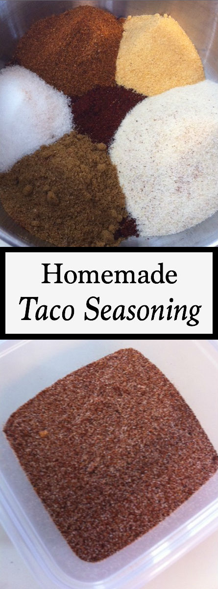 This taco seasoning is one of my favorite homemade seasoning mixes and only has 6 ingredients - talk about easy recipes! So grab your chicken, steak, sausage or favorite meat and whip up fajitas, chili, enchiladas or your favorite dish using this healthy option instead of the pre-made pouch.