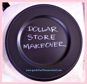 Chalkboard Chargers - A Dollar Store Makeover