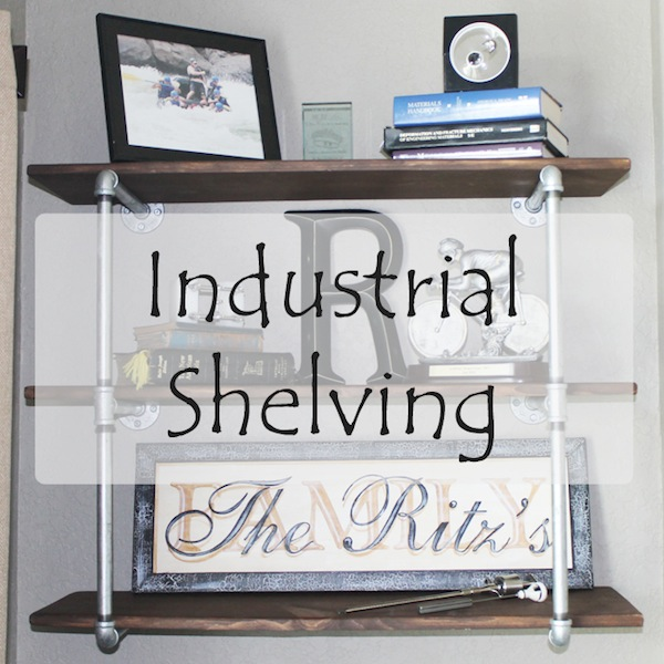 DIY Industrial Shelves