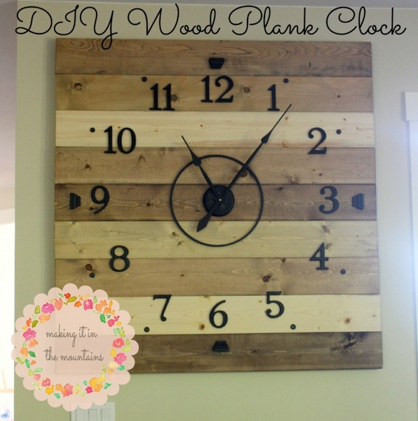 DIY Wood Plank Clock
