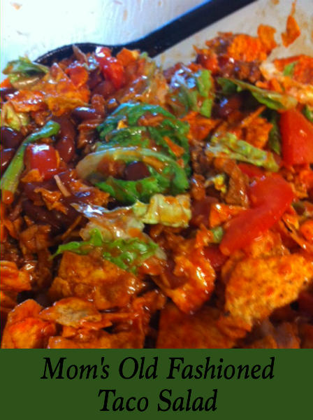 Mom's Old Fashioned Taco Salad is one of my favorite childhood recipes. As an adult, I love how simple it is to make!