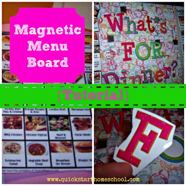 Magnetic Menu Board Tutorial