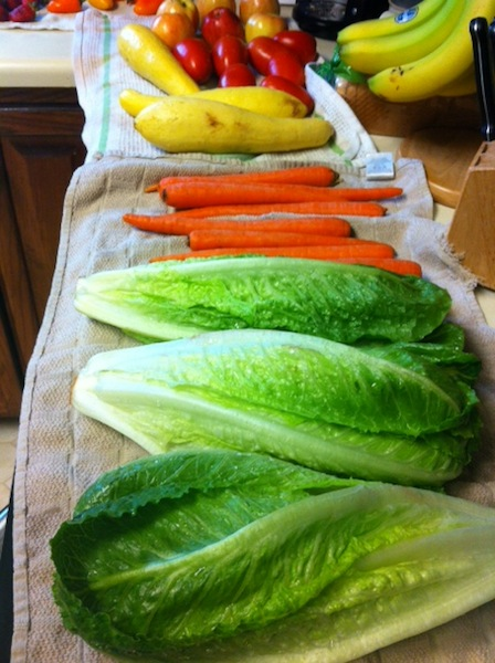 washed veggies