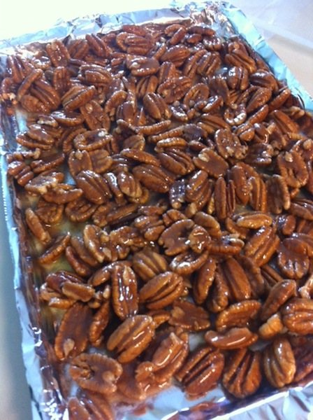 These 5 Ingredient Sugared Pecans are perfect as appetizers or easy desserts! They're so yummy that you won't be able to eat just one!
