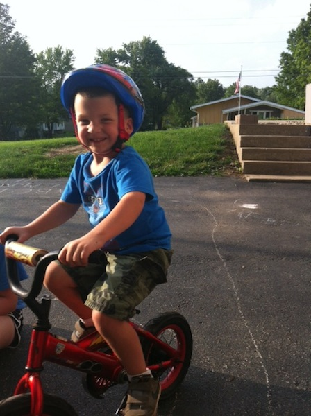 Cole with Bike