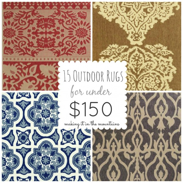 15 Outdoor Rugs for Under 150