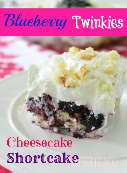 Blueberries Twinkies Cheesecake Shortcake