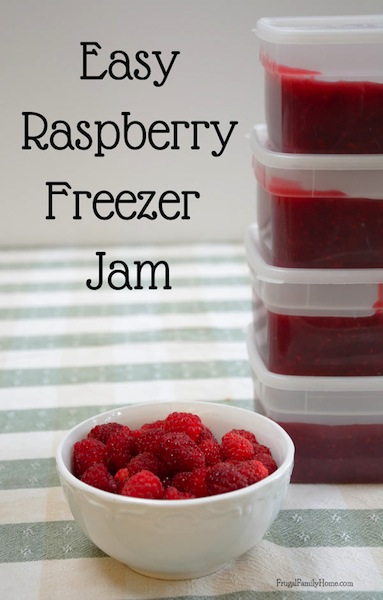 Easy Raspberry Freezer Jam