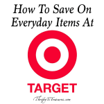 How To Save On Everyday Items At Target